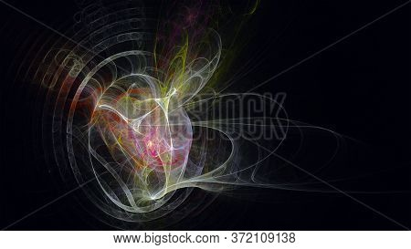 Abstract Chaotic Color Pattern On A Dark Background - Graphic Resource