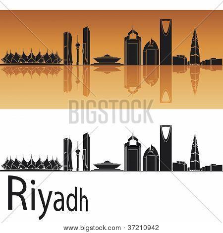 Riyadh skyline in orange background