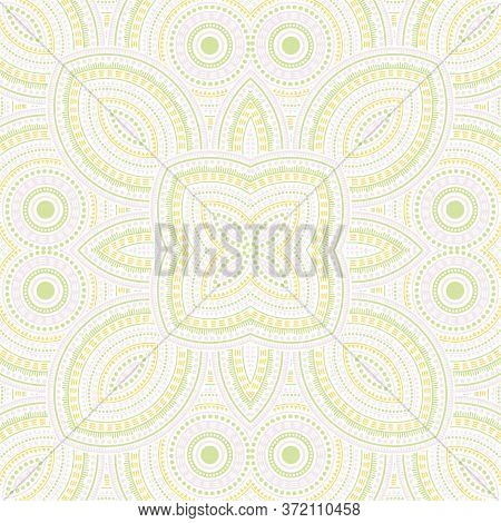 Linear Moroccan Zellige Tile Seamless Ornament. Geometric Texture Vector Elements. Carpet Print Desi
