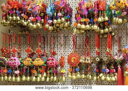 A Display Of Chinese Small Novelties And Trinkets.