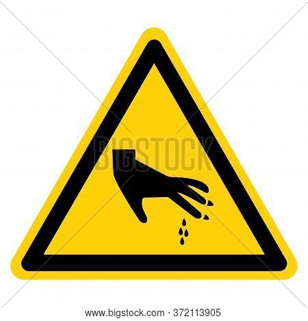 Warning Sharp Part Symbol Sign, Vector Illustration, Isolate On White Background Label .eps10