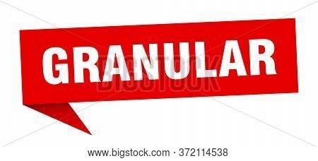 Granular Speech Bubble. Granular Ribbon Sign. Banner