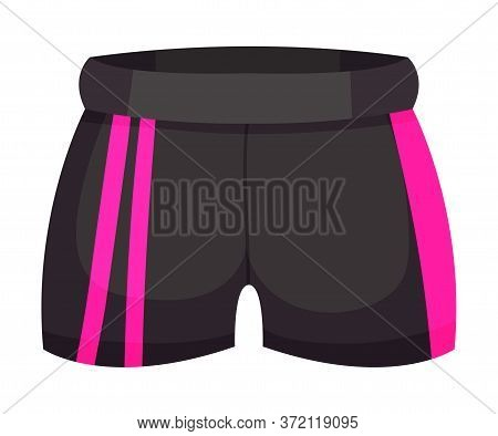 Tight Sportive Pair Of Shorts Or Trunks As Track Womenswear Vector Illustration