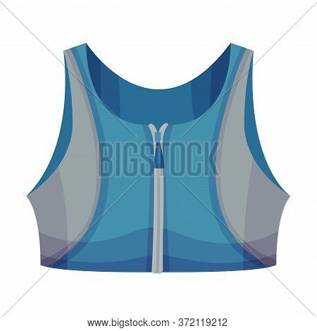 Training Sports Bra Or Racerback Tank As Track Womenswear Vector Illustration