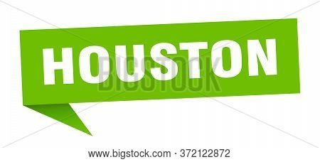 Houston Sticker. Green Houston Signpost Pointer Sign
