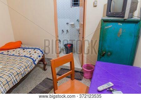 Dinajpur, Bangladesh - November 8, 2016: Room In A Cheap Hotel In Dinajpur, Bangladesh