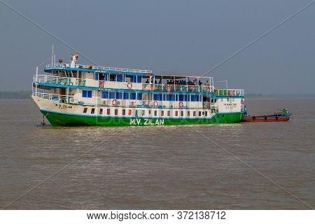 Pasur, Bangladesh - November 14, 2016: M. V. Zilan Ship Of The Rainbow Tours During Sundarbans Tour,