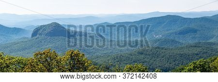 Looking Glass Rock Viewed Along The Blue Ridge Parkway In The Appalachian Mountain