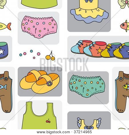 illustration of kidswear on a white background