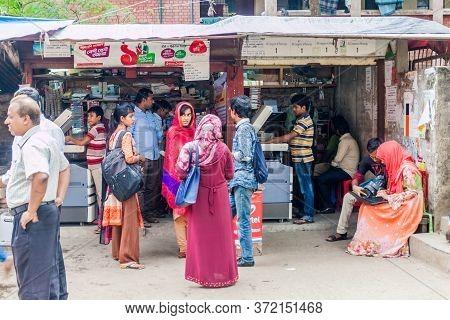 Dhaka, Bangladesh - November 20, 2016: Customers At A Copy Shop In Dhaka, Bangladesh