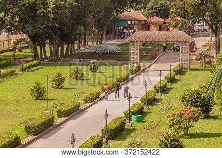 Sonargaon, Bangladesh - November 21, 2016: Garden Of Folk Arts Museum In Sonargaon Town, Bangladesh