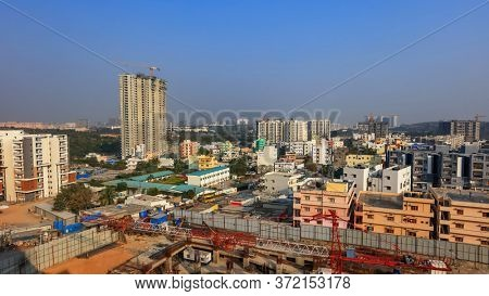 Hyderabad, INDIA - January 11: Hyderabad is the fourth most populous city and sixth most populous urban agglomeration in India, on January 11 2018, Hyderabad, India