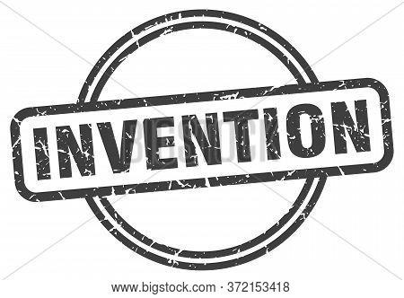 Invention Grunge Stamp. Invention Round Vintage Stamp