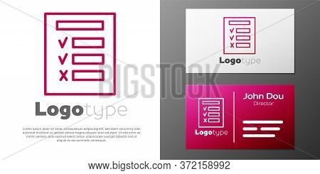 Logotype Line Car Inspection Icon Isolated On White Background. Car Service. Logo Design Template El