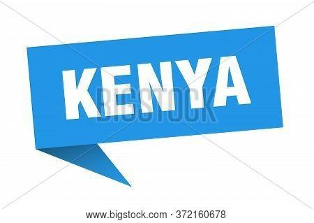 Kenya Sticker. Blue Kenya Signpost Pointer Sign