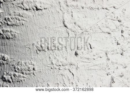 Grungy White Concrete Wall Texture Background. Cement Texture. Gray Concrete Spotty Wall Abstract Ba