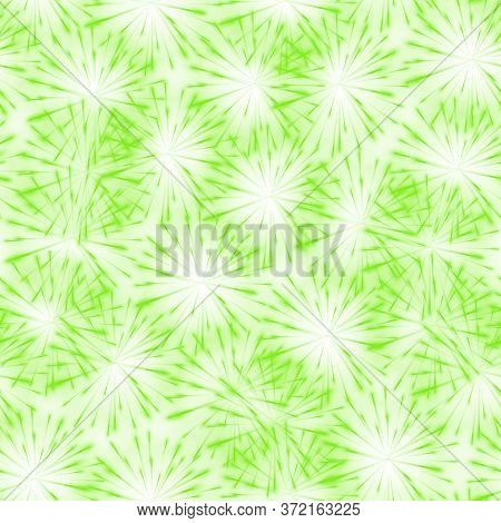 Abstract Springtime Colorful Flower Seamless Pattern Background, Aqua Menthe Dandelion. Seamless Pat