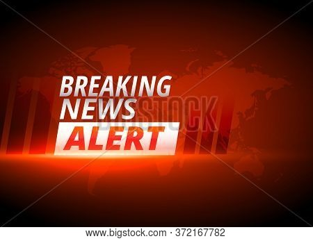 Breaking News Alert Background In Red Theme Design Vector Illustration