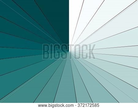 Abstract Burst Background With Turquoise And White Rays. A Beautiful Transition From Dark To Light.