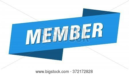 Member Banner Template. Member Ribbon Label Sign