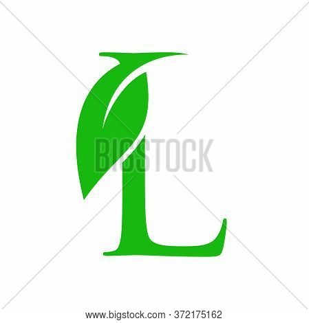 Simple Clean And Charming Logo Design Initial L Combining With Leaf.