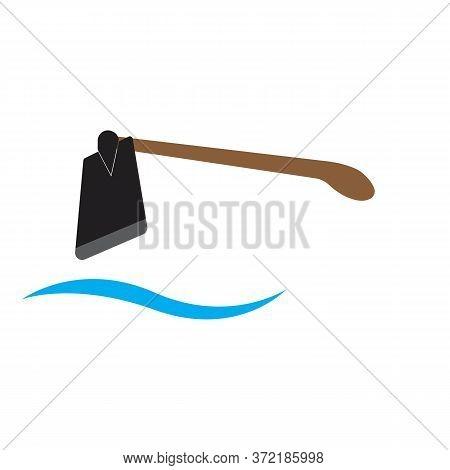 Traditional Hoe Logo Icon Vector Illustration Design Template - Vector
