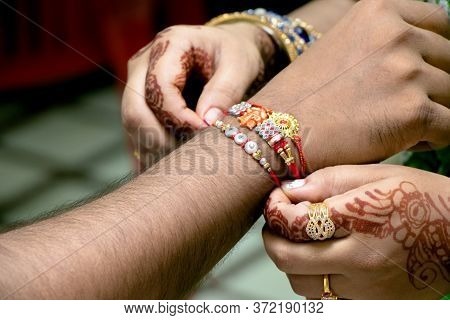 Rakshabandhan, Celebrated In India As A Festival Denoting Brother-sister Love And Relationship. Sist