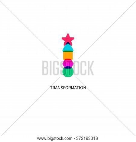 Transformation Icon, Coach, Evolution, Development, Transform Sign, Teacher Symbol, Abstract Geometr