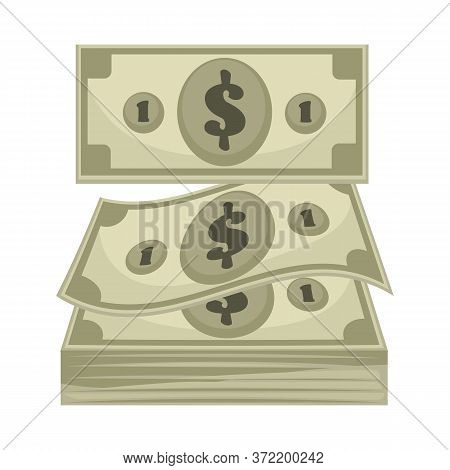 Dollar Banknotes, Cash Money For Payment Nominal Of Currency