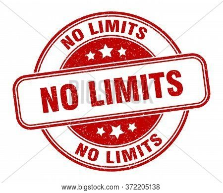 No Limits Stamp. No Limits Round Grunge Sign. Label