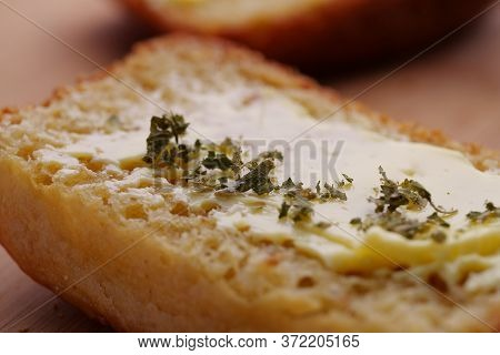Close Up Of A Slice Of Bread