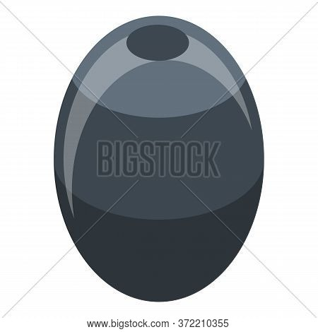 Whole Black Olive Icon. Isometric Of Whole Black Olive Vector Icon For Web Design Isolated On White