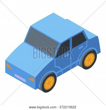 Kindergarten Car Toy Icon. Isometric Of Kindergarten Car Toy Vector Icon For Web Design Isolated On