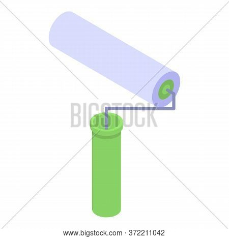 Industrial Climber Roller Icon. Isometric Of Industrial Climber Roller Vector Icon For Web Design Is