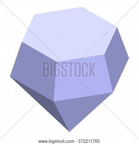 Pirate Diamond Stone Icon. Isometric Of Pirate Diamond Stone Vector Icon For Web Design Isolated On