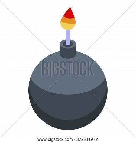 Pirate Ship Bomb Icon. Isometric Of Pirate Ship Bomb Vector Icon For Web Design Isolated On White Ba