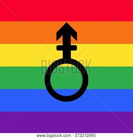 Other Gender Sex Icon. Gender Symbol On A Rainbow Flags, Symbols Of Sex.