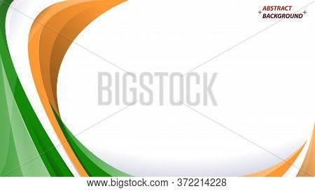 Abstract Elegant Background Design With Space For Your Text. Corporate Concept Tricolor Indian Vecto