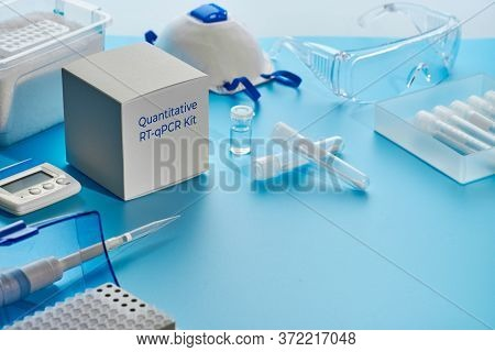 Sars-cov-2 Pcr Diagnostics Kit. This Is Rt-qpcr Kit For Real-time Reverse Transcription And Amplific