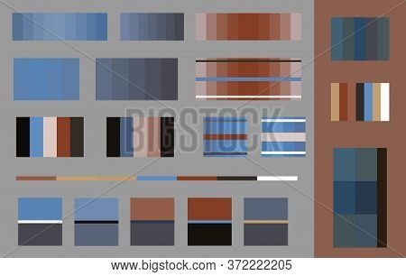 Trendy Color Swatches Of 2020 Vector Illustration. Spring, Summer Color Collection Harmony Solutions