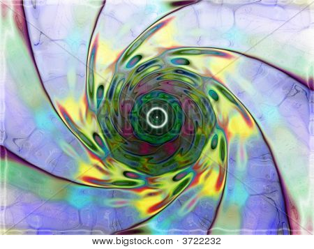 alien unknown fantasy distorted twisted abstract with different colors poster