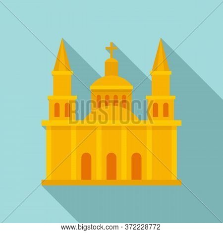 Mexican Church Icon. Flat Illustration Of Mexican Church Vector Icon For Web Design