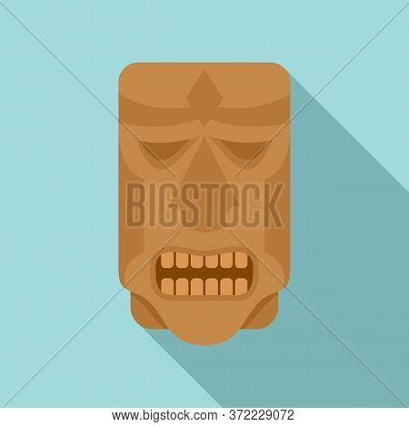 Mexican Wood Idol Icon. Flat Illustration Of Mexican Wood Idol Vector Icon For Web Design
