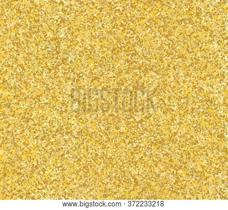 Gold Glitter Texture. Golden Abstract Particles. Sparkle Glitter Background. Vector Illustration. Go