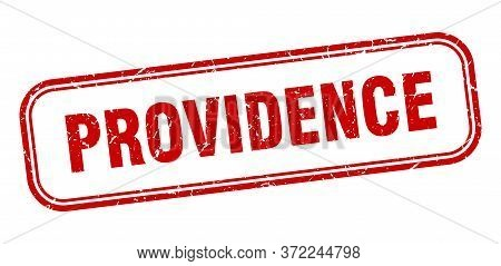 Providence Stamp. Providence Red Grunge Isolated Sign
