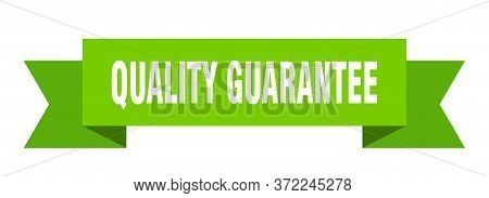 Quality Guarantee Ribbon. Quality Guarantee Isolated Sign. Quality Guarantee Banner
