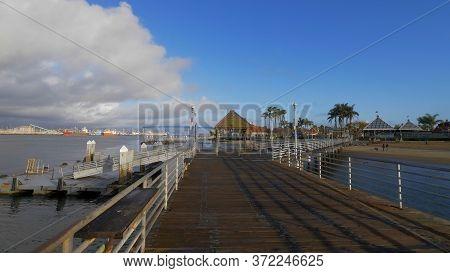 Beautiful Coronado Pier At San Diego Bay - San Diego, Usa - March 18, 2019
