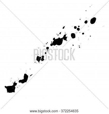 Black Ink Blots Isolated On White Background. Vector Element For You Grunge Design.