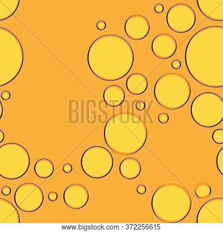 Seamless Pattern With Bubbles Of Fruit Lemonade. Carbonated Drink. Modern Design For Packaging, Pape