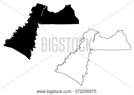 Cagayan De Oro City (republic Of The Philippines, Northern Mindanao Region) Map Vector Illustration,